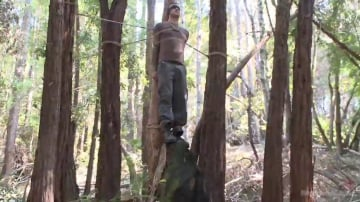 Christian Wilde - Bound Christian Wilde begs to cum in the woods