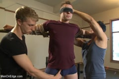 Owen Michaels - Brand new straight stud gets his hard cock edged (Thumb 01)