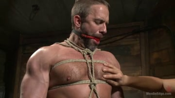 Dirk Caber - Muscled hunk taken and edged against his will