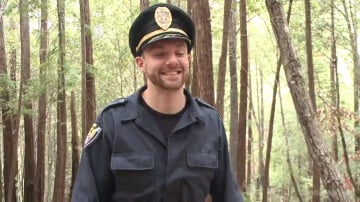 Jimmy Bullet - Officer Bullet - Ass fucked and edged in the middle of the woods