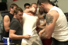 Alex Adams - Loudmouth muscle-head gets taken down and gang fucked at a boxing gym (Thumb 22)