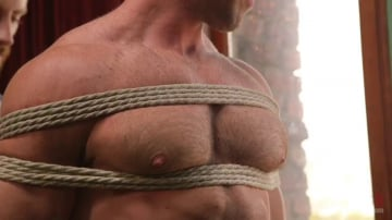 Alex Mecum - Furry Muscular Stud is Bound and Edged on a Pool Table!