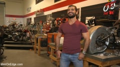 Ali Liam - Hot biker gets edged in the motorcycle garage (Thumb 01)