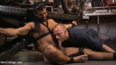 Ali Liam - Hot biker gets edged in the motorcycle garage (Thumb 07)