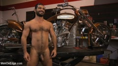 Ali Liam - Hot biker gets edged in the motorcycle garage (Thumb 15)