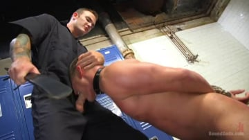 Brian Huggins - Straight Boy in the Locker Room is Abducted and Fucked!