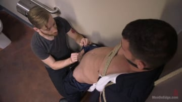 Brogan Reed - Security Guard Edged Beyond his Limit in the Bathroom
