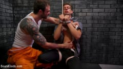 Cliff Jensen - Bad boy inmate Cliff Jensen breaks in new guard Michael DelRay (Thumb 06)