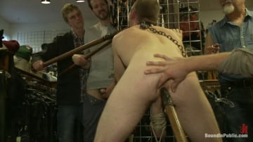 Cody Allen - 19 year old stud with a giant cock gets used and humiliated in public
