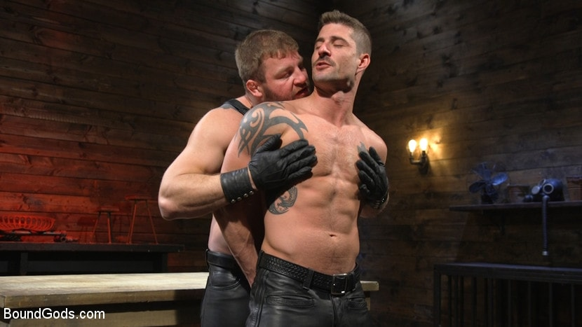 Kink Men 'Newcomer Sean Maygers Gets Bound and Fucked By Huge Stud Colby Jansen' starring Colby Jansen (photo 2)