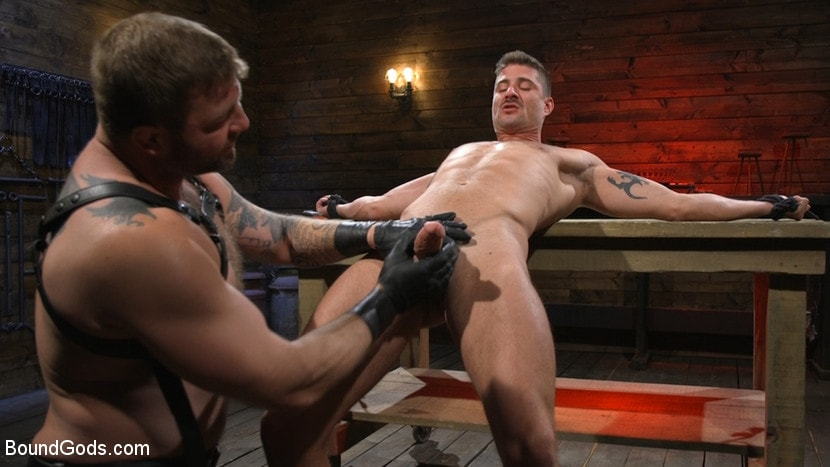 Kink Men 'Newcomer Sean Maygers Gets Bound and Fucked By Huge Stud Colby Jansen' starring Colby Jansen (photo 5)