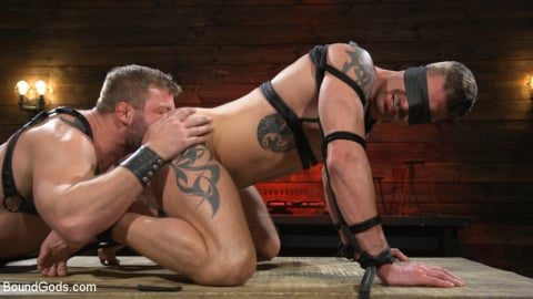 Kink Men 'Newcomer Sean Maygers Gets Bound and Fucked By Huge Stud Colby Jansen' starring Colby Jansen (Photo 17)