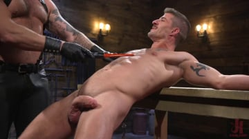 Colby Jansen - Newcomer Sean Maygers Gets Bound and Fucked By Huge Stud Colby Jansen