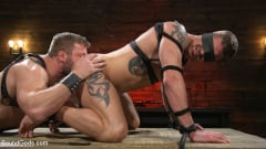 Colby Jansen - Newcomer Sean Maygers Gets Bound and Fucked By Huge Stud Colby Jansen (Thumb 17)