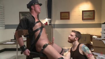 Connor Maguire - Officer Maguire edged and gets an electric buttplug for the first time