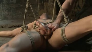 Connor Patricks - Hot dock worker taken down and his aching hard cock edged by two pervs