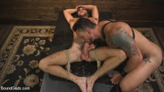 Dakota Rivers - Horny Sub is Tormented With the Fucksaw and Hot Wax Pendulums! (Thumb 11)