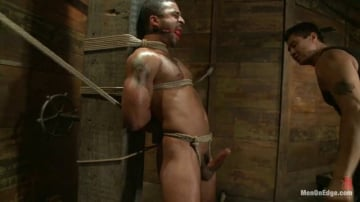 Damian Taylor - Bound Captured Stud Cums in Mid-air