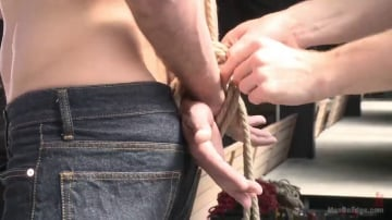 Dean Brody - First timer with a giant cock gets suspended and edged above the drill court