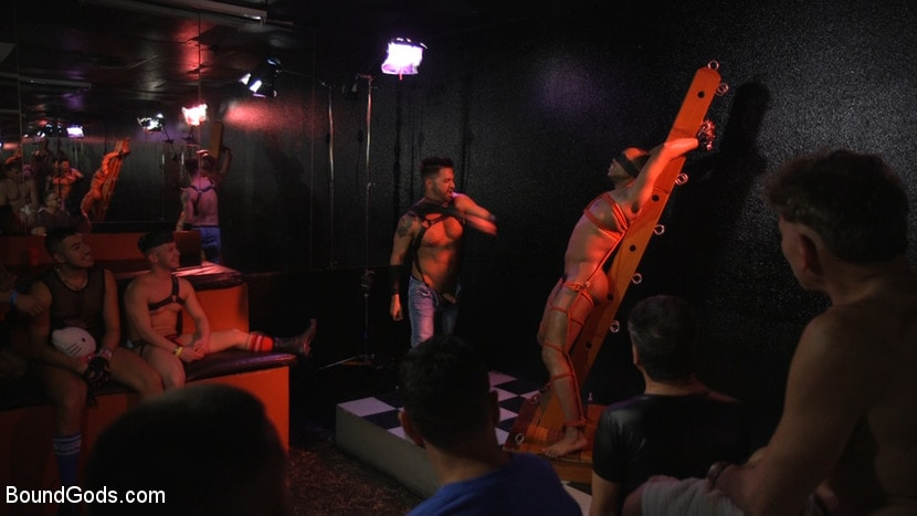 Kink Men 'New meat Alson Caramel fisted and fucked for HustlaBall!' starring Dominic Pacifico (photo 10)