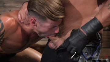Dominic Pacifico - Submissive Stud Casey Everett gets Tied Up and Machine Fucked by a God