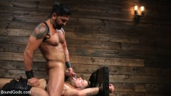 Dominic Pacifico - Submissive Stud Casey Everett gets Tied Up and Machine Fucked by a God (Thumb 13)