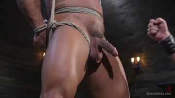 Draven Navarro - Bound bodybuilding god at the hands and torment of Mr Keys