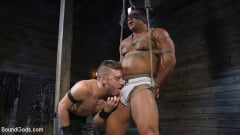 Draven Navarro - Bound bodybuilding god at the hands and torment of Mr Keys (Thumb 02)