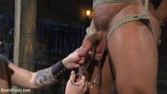 Draven Navarro - Bound bodybuilding god at the hands and torment of Mr Keys (Thumb 03)