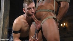 Draven Navarro - Bound bodybuilding god at the hands and torment of Mr Keys (Thumb 04)
