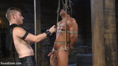 Draven Navarro - Bound bodybuilding god at the hands and torment of Mr Keys (Thumb 06)