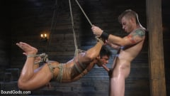 Draven Navarro - Bound bodybuilding god at the hands and torment of Mr Keys (Thumb 14)