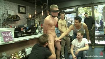 Jacques LaVere - Ripped, hung stud gets used and abused in a clothing store