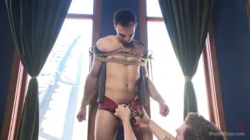 Jason Maddox - Muscular Stud, Jason Maddox, Begs to Cum In bondage for the First Time