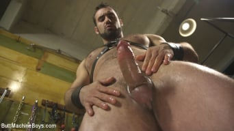 Jaxton Wheeler in 'House dom takes his first machine deep in his hairy hole!'