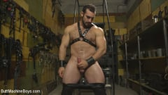 Jaxton Wheeler - House dom takes his first machine deep in his hairy hole! (Thumb 02)