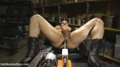 Jaxton Wheeler - House dom takes his first machine deep in his hairy hole! (Thumb 12)