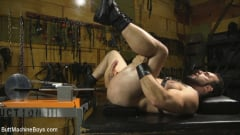 Jaxton Wheeler - House dom takes his first machine deep in his hairy hole! (Thumb 13)
