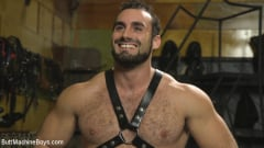 Jaxton Wheeler - House dom takes his first machine deep in his hairy hole! (Thumb 15)
