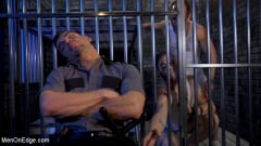 Jeremy Spreadums - New CO falls asleep on the job and gets milked by two horny inmates (Thumb 04)