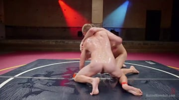 JJ Knight - Southern Boys with Giant Cocks Wrasslin' in Oil: JJ Knight vs Zane Anders