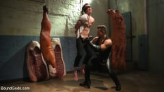 Kyler Ash - Perverted Butcher torments and abuses his handsome captive (Thumb 09)