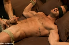 Landon Conrad - Super hunk Landon Conrad tied up and edged for the very first time (Thumb 04)