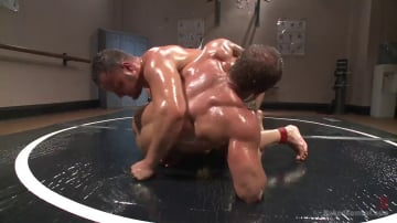Logan Blake - Top Cock: Muscled gods oil up their ripped bodies and fight to fuck!