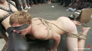 Master Avery - Noah Brooks is dragged through the streets, bound, beaten and pissed o