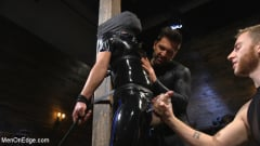 Matt Anthony - Monster Cocked Noob Blindfolded, Gagged, and Edged Til He Blows (Thumb 08)
