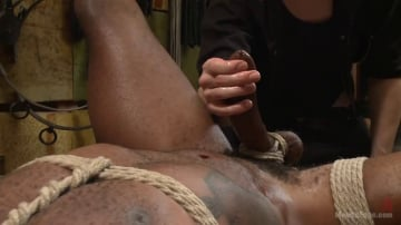 Osiris Blade - Hung KinkMen PA Explores the Bondage Wall and Gets Edged