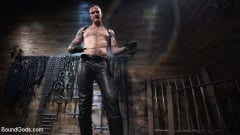 Pierce Paris - Captive God Pierce Paris, Bound in Rope Bondage and Fucked by Hot Stud (Thumb 01)