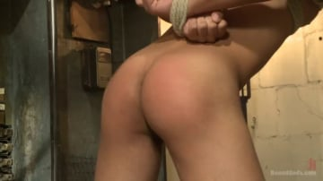 Rico Romero - Creepy handyman choke fucks an unwilling student in bondage