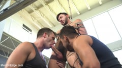 Scott DeMarco - Lean hunk with a big cock blows his load mid-air! (Thumb 03)